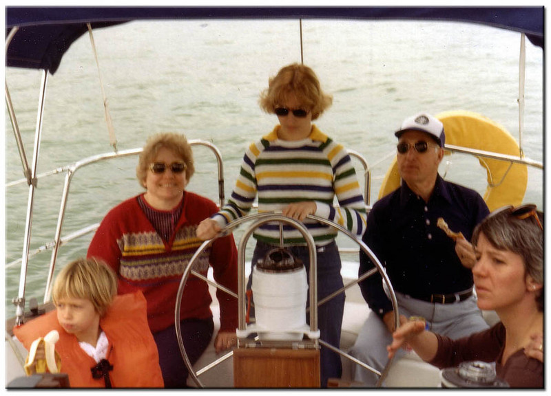 Frances Lucas, Beverly Roop and Chuck Lucas - sailing in Miami