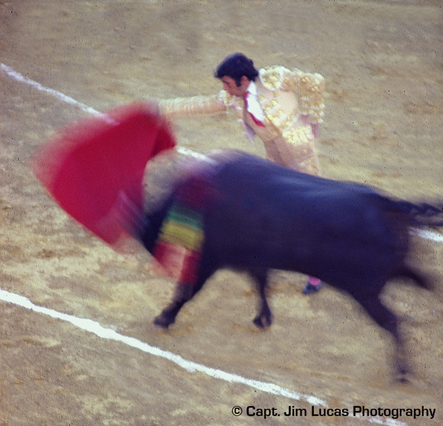 Bullfight - Festival in Estepona Spain on the Costa del Sol - Taken with a Nikon EL with a 75-150 Nikkor Zoom Lens - Kodachrome 64 ASA film - scanned with a Plustek OpticFilm 7200 slide scanner.